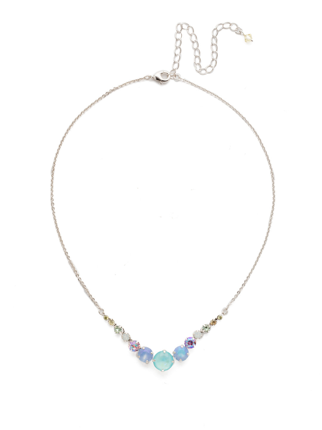 Delicate Round Tennis Necklace - NCQ14RHSSU