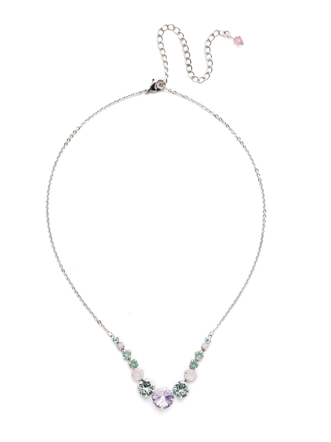 Delicate Round Tennis Necklace - NCQ14RHTUL