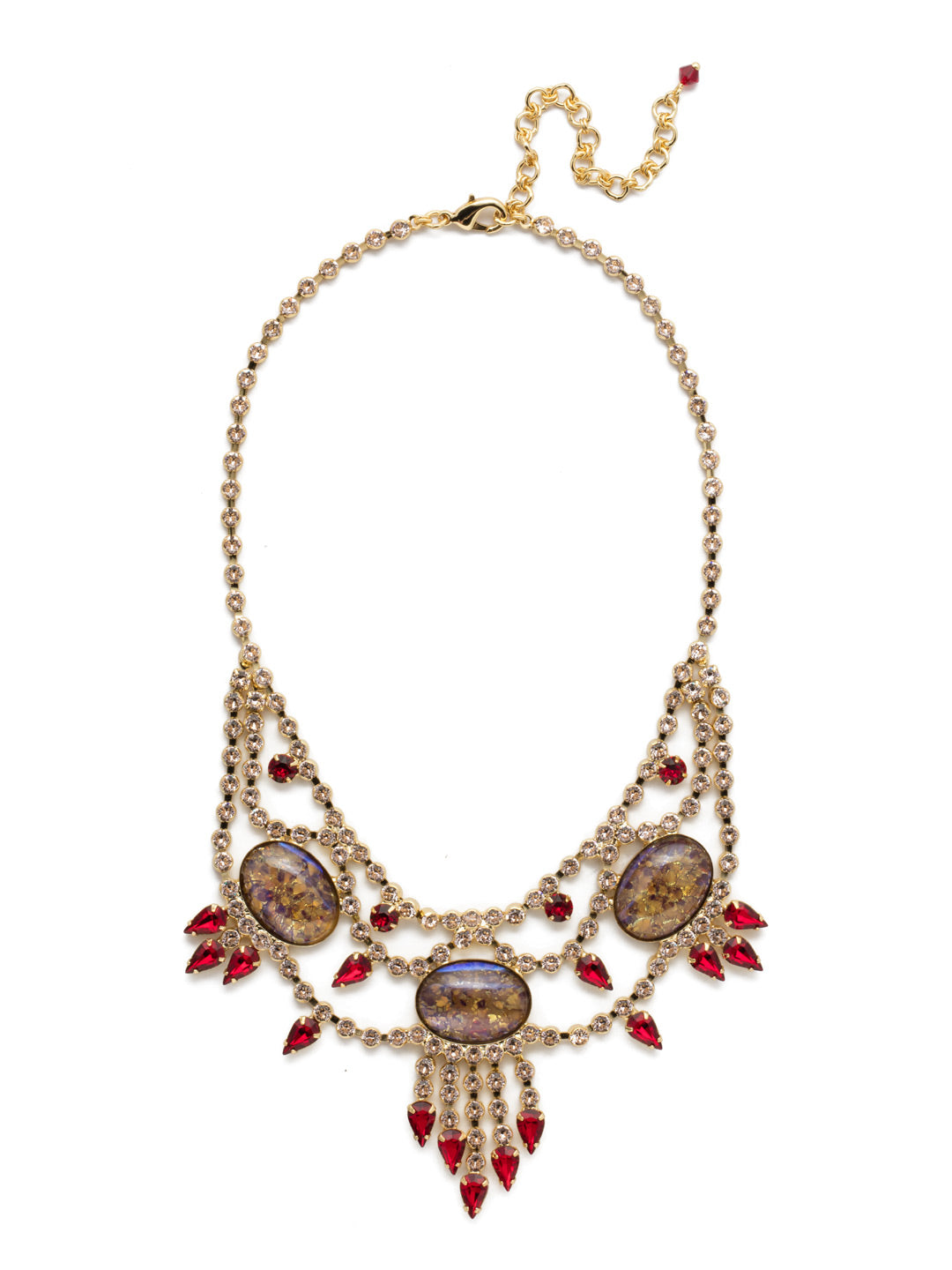 Living on the Fringe Statement Necklace - NCQ19BGSRC