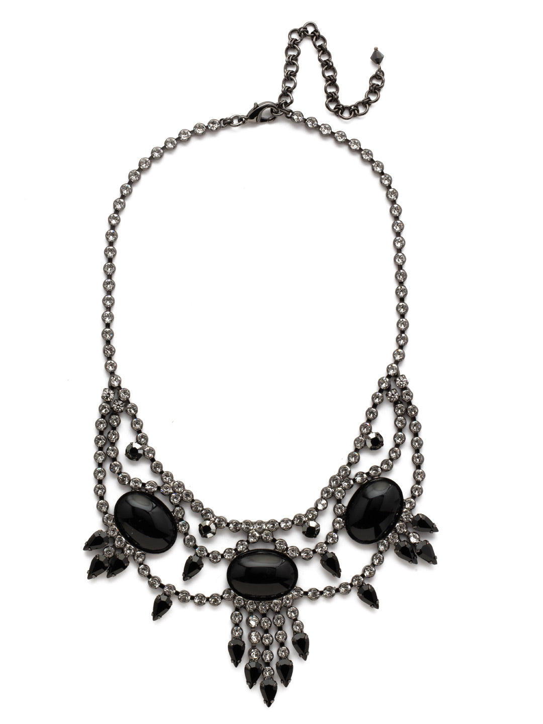 Living on the Fringe Statement Necklace - NCQ19GMMMO