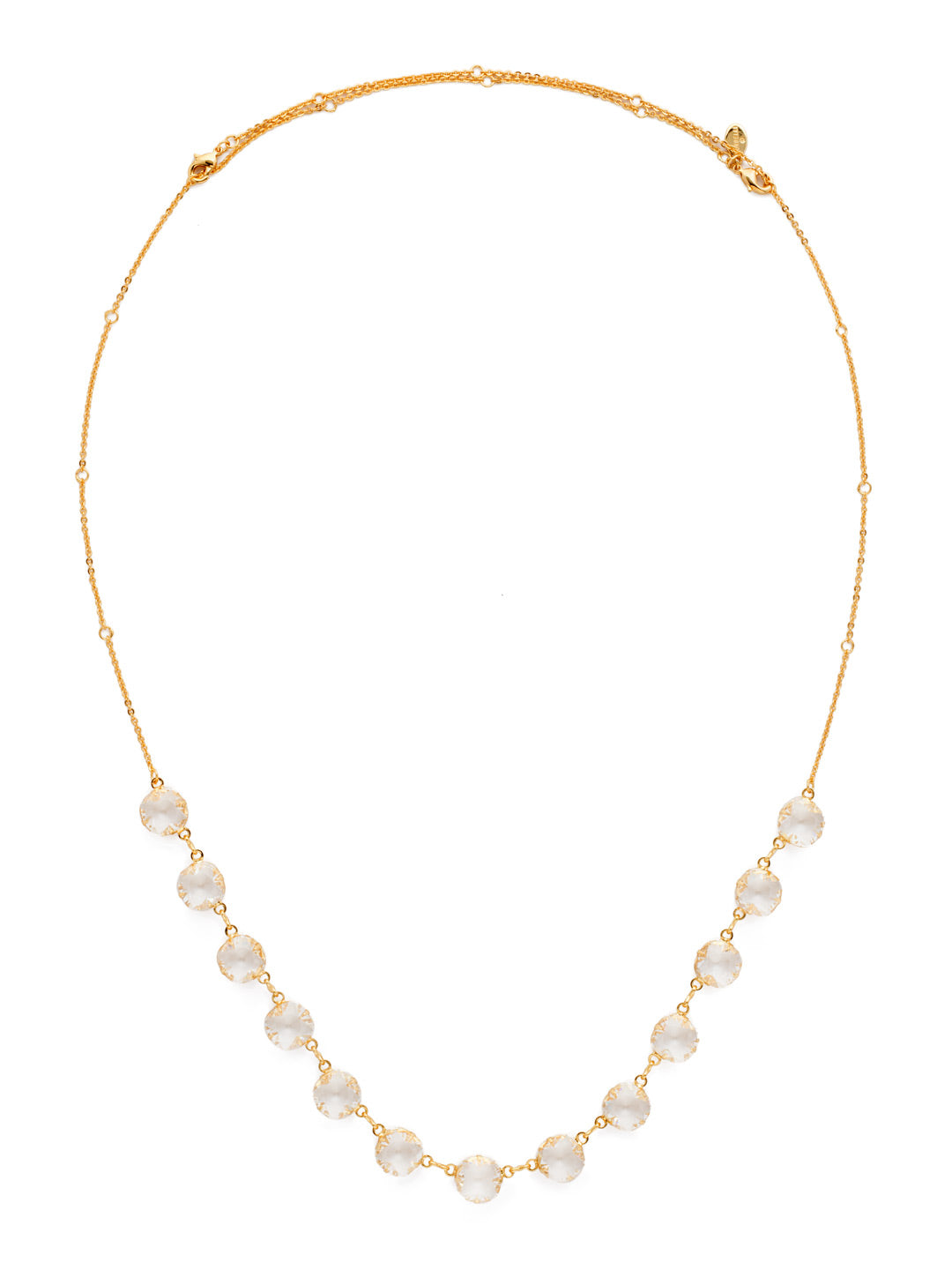 Crystal Rain Long Strand Necklace - NCR71BGCRY