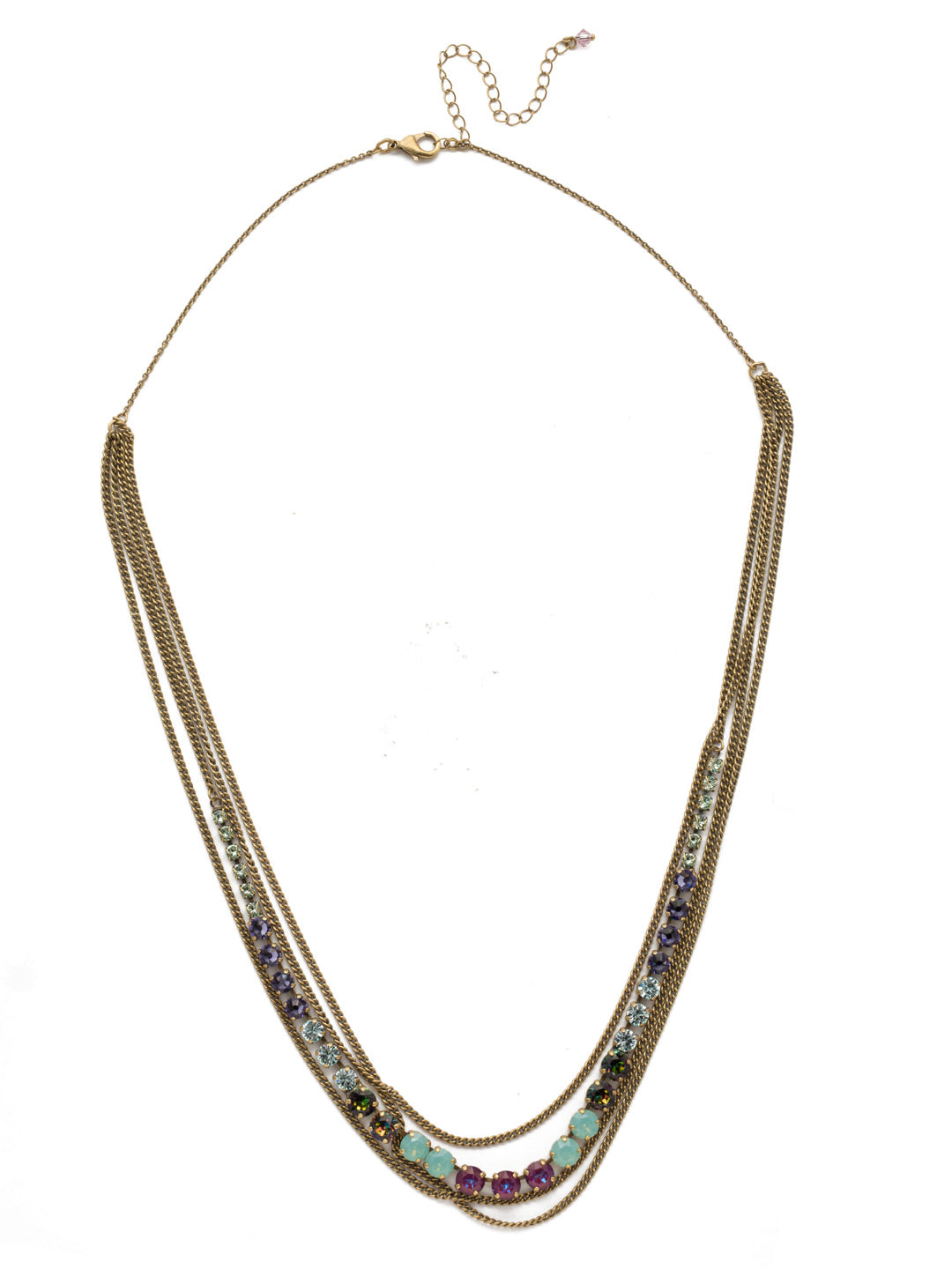 Layer It On Multi-Strand Layered Necklace - NCR73AGIRB