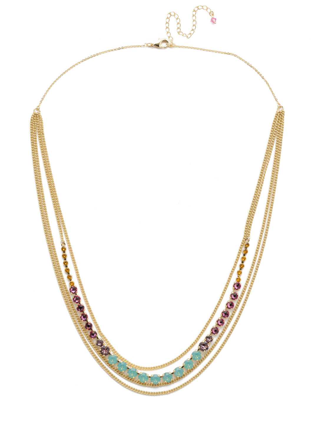 Layer It On Multi-Strand Layered Necklace - NCR73BGCPO