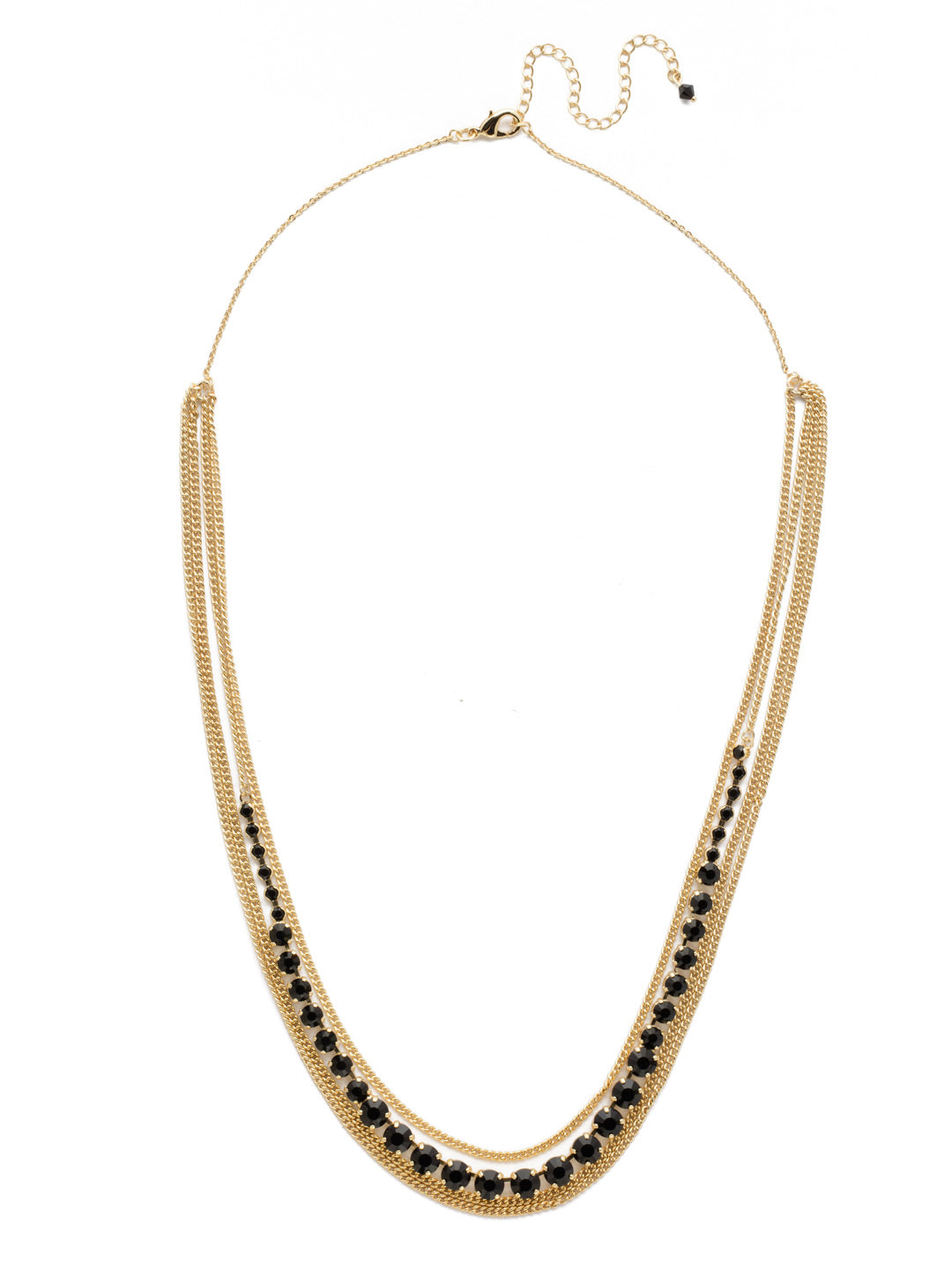 Layer It On Multi-Strand Layered Necklace - NCR73BGJET
