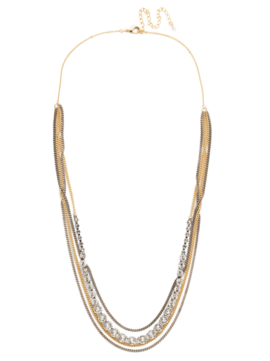 Layer It On Multi-Strand Layered Necklace - NCR73MXCRY