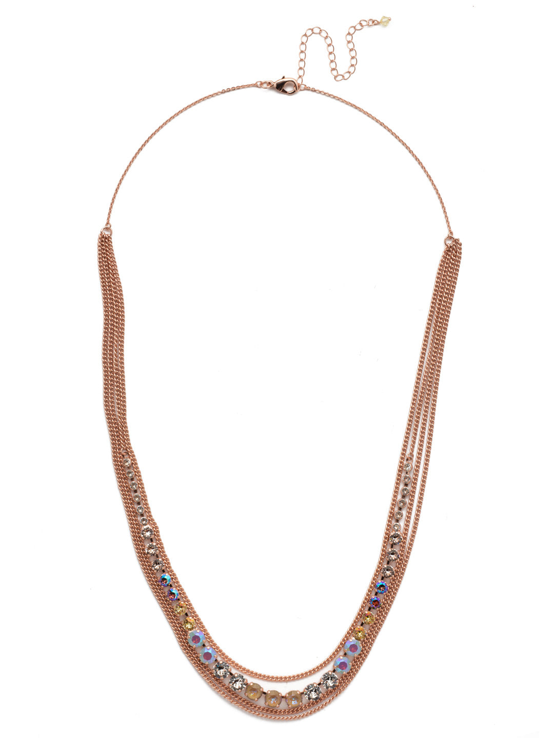 Layer It On Multi-Strand Layered Necklace - NCR73RGROG