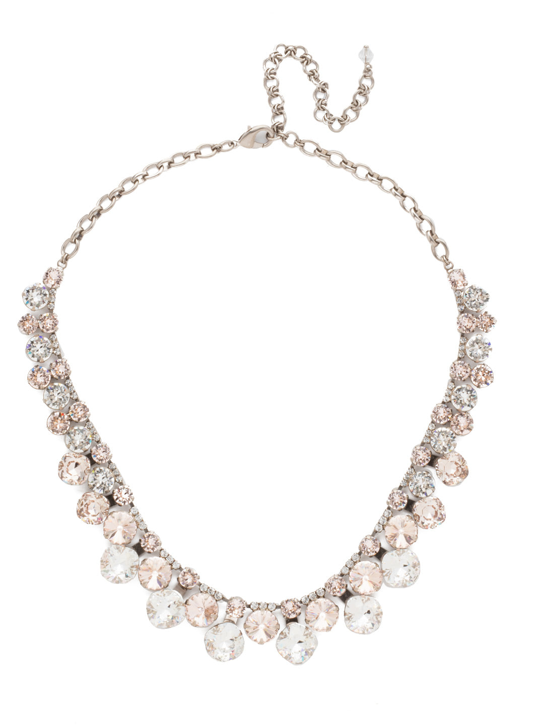 Cushion Cut Crystal Statement Collar Necklace - NCT14ASPLS