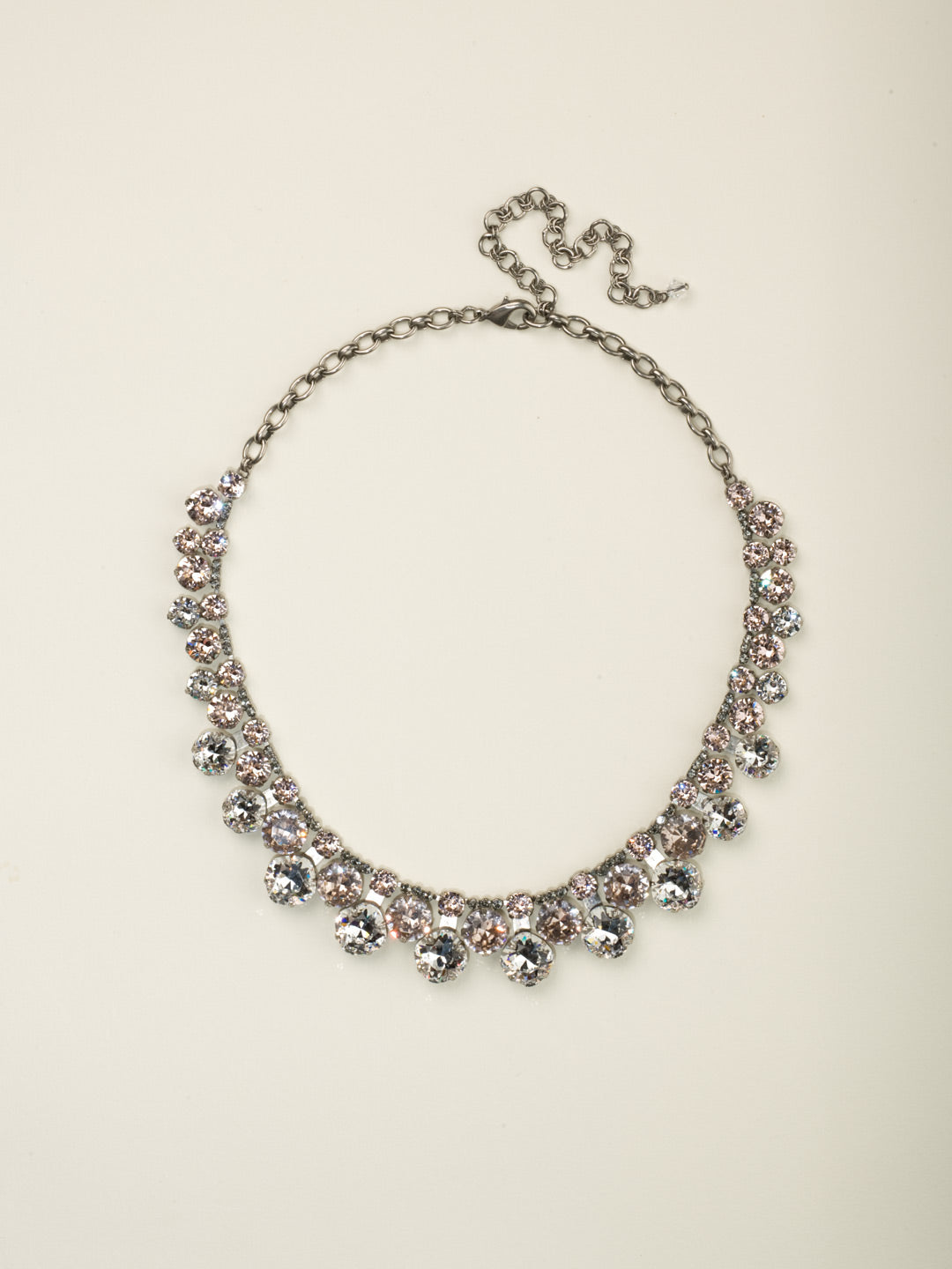 Cushion Cut Crystal Statement Collar Necklace - NCT14ASSNB