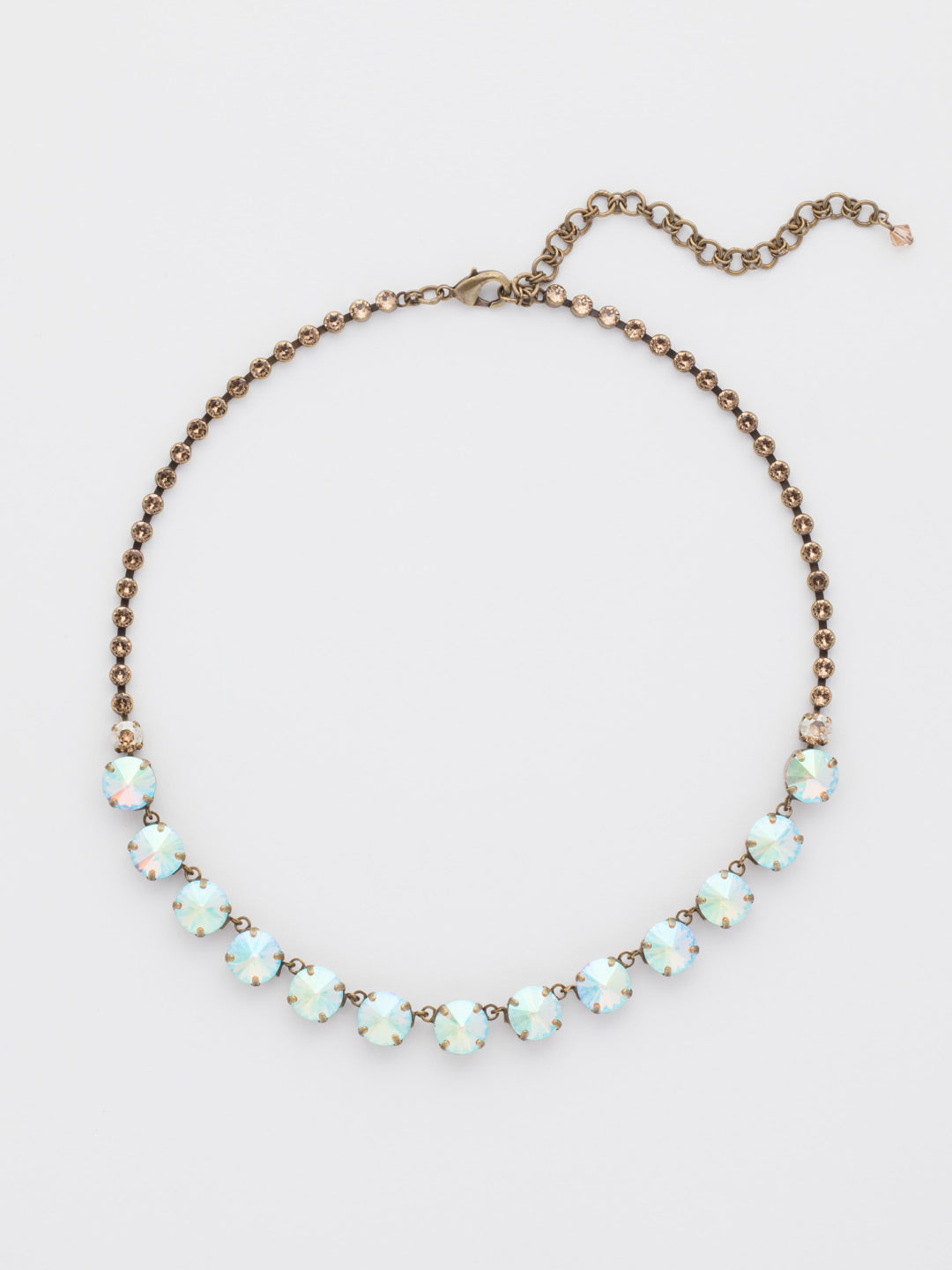 Repeating Rivoli Classic Line Necklace - NCU19AGNT