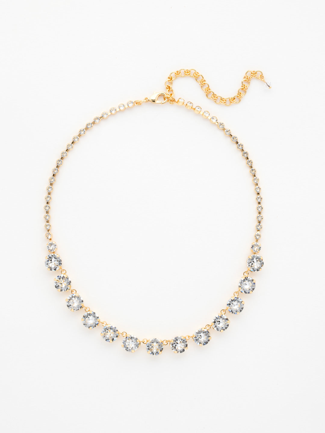Repeating Rivoli Classic Line Necklace - NCU19BGCRY