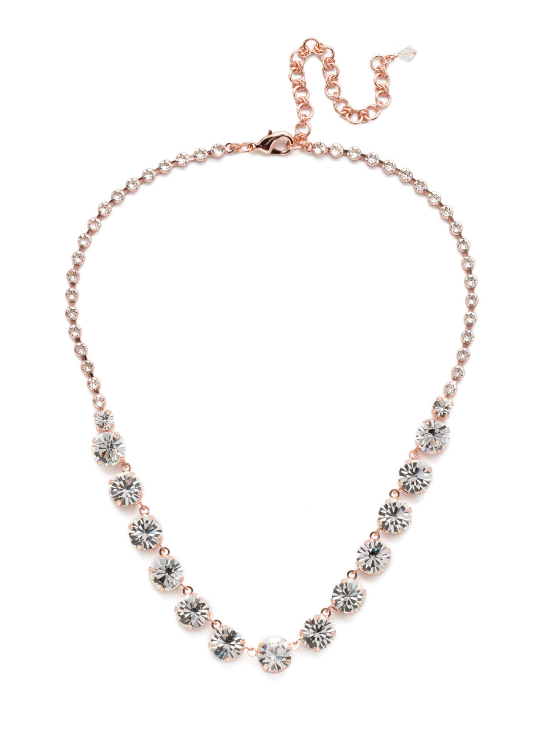 Repeating Rivoli Classic Line Necklace - NCU19RGCRY