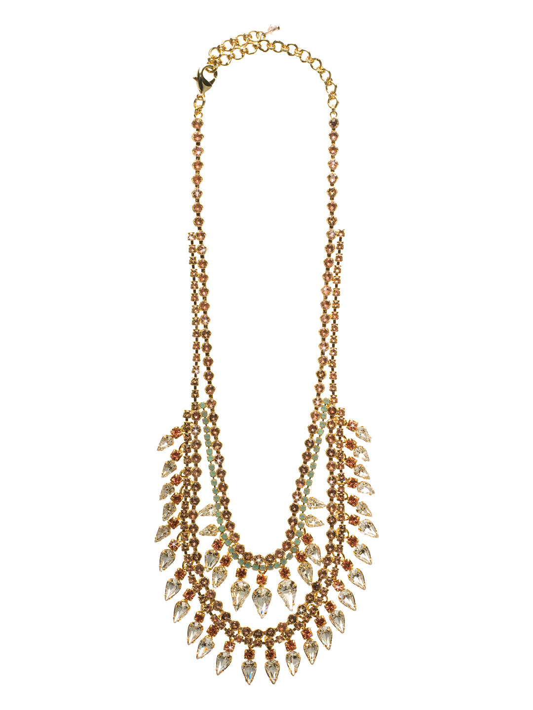 Twin Layered Statement Necklace - NCU21BGCOR