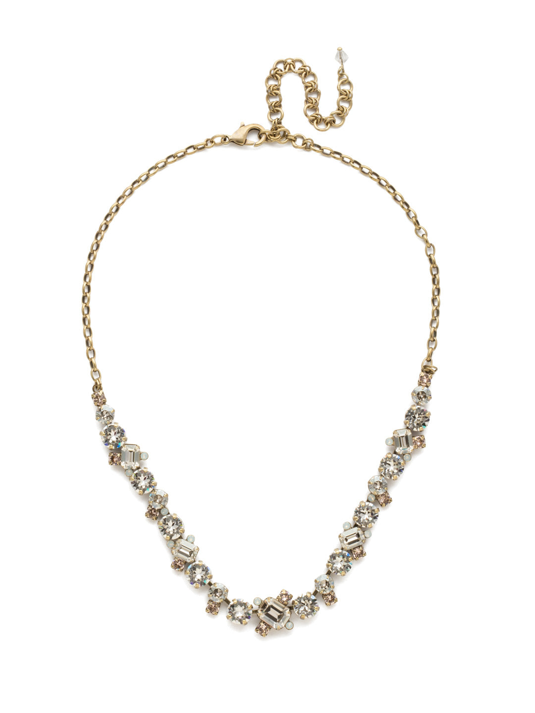 Novelty Multi-Cut Crystal Necklace - NDB78AGCLA