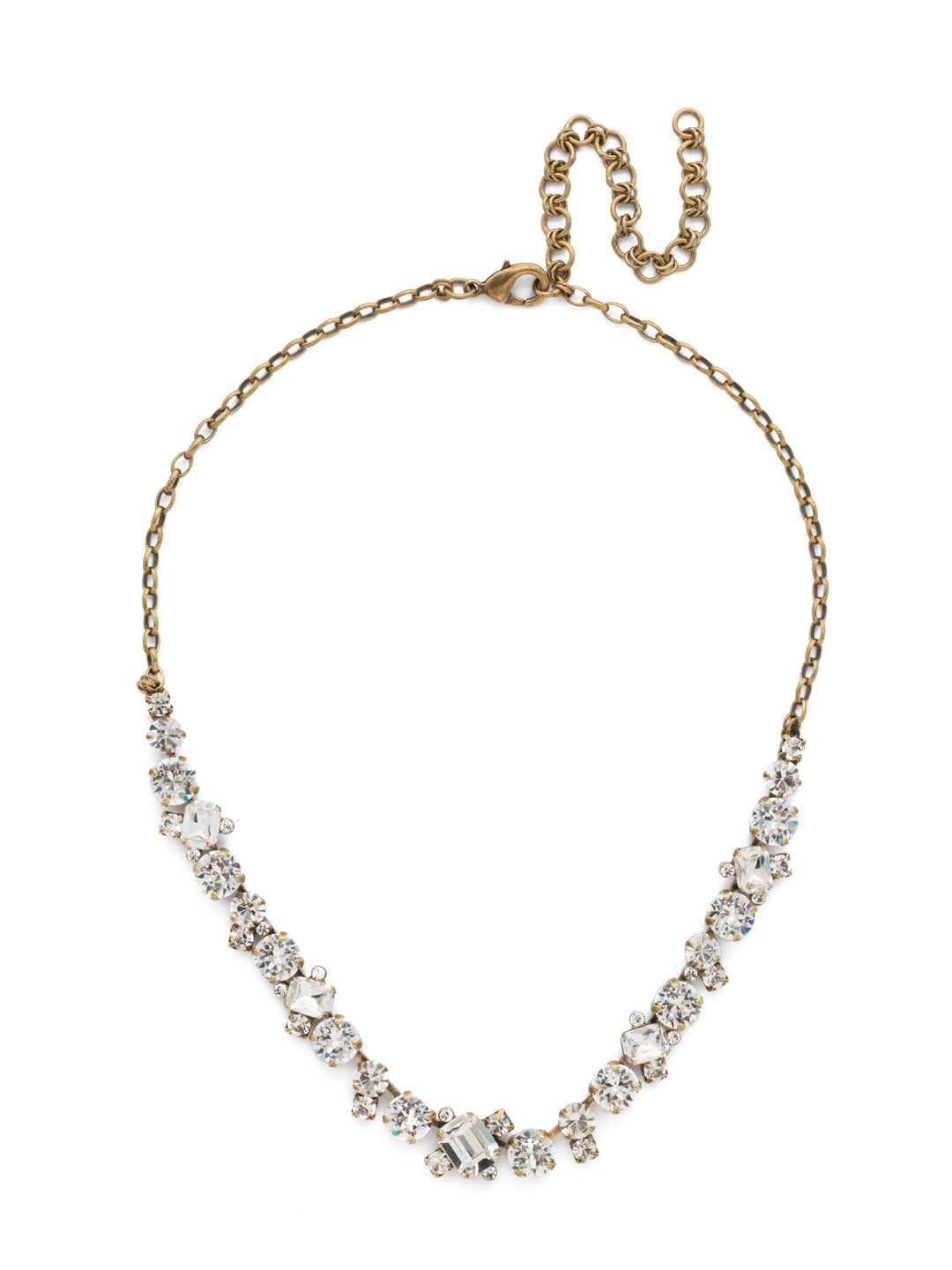 Novelty Multi-Cut Crystal Necklace - NDB78AGCRY