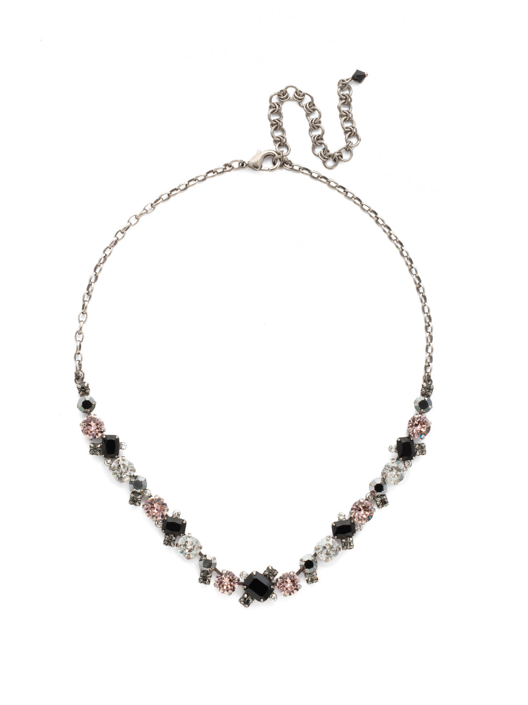 Novelty Multi-Cut Crystal Necklace - NDB78ASCNO