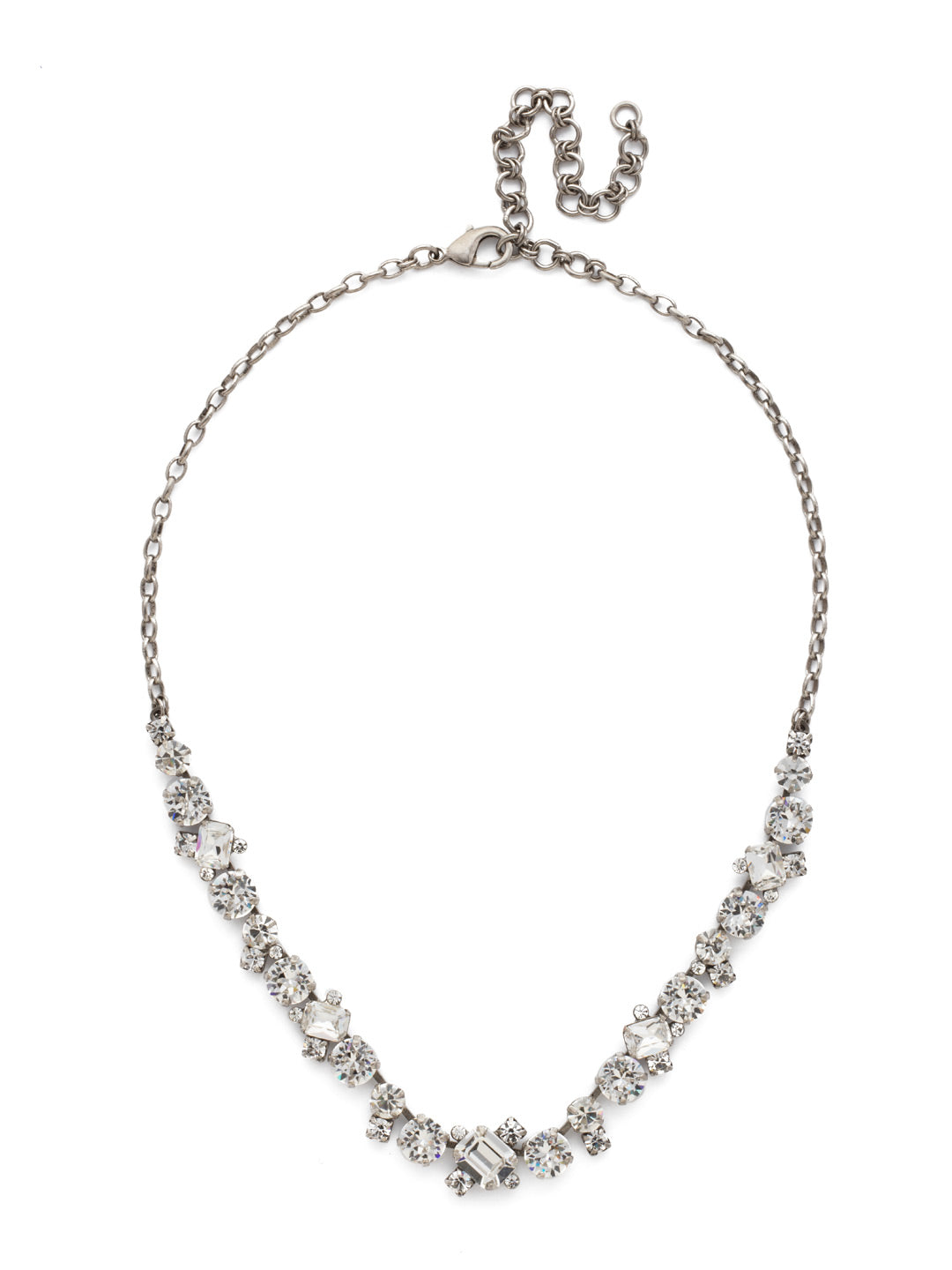 Novelty Multi-Cut Crystal Necklace - NDB78ASCRY
