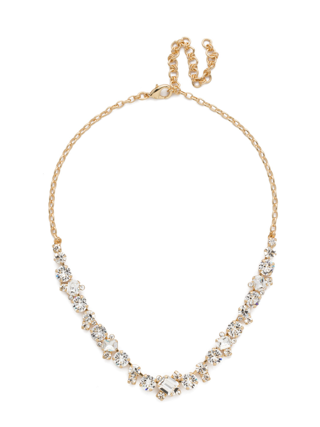 Novelty Multi-Cut Crystal Necklace - NDB78BGCRY
