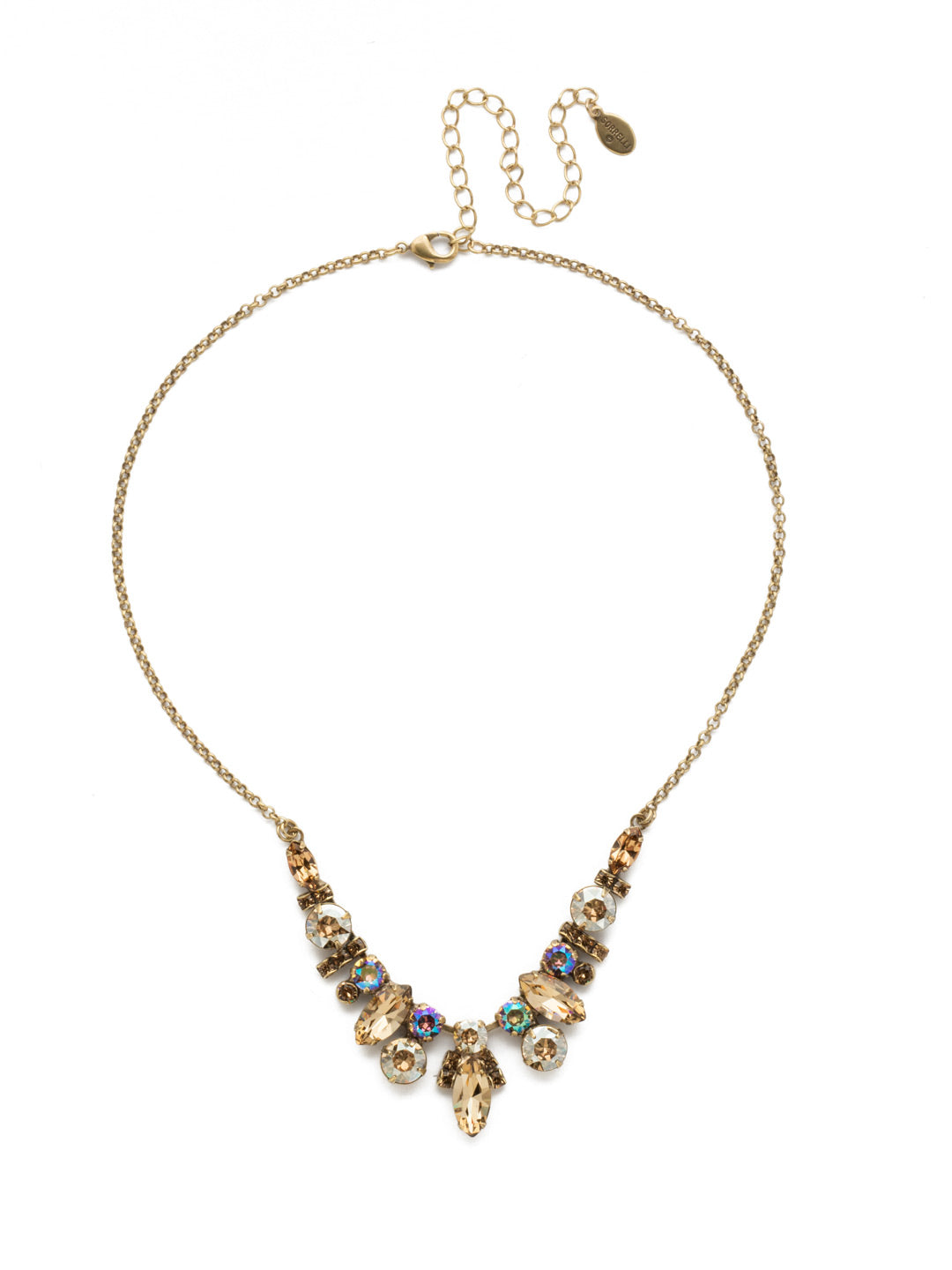 Noveau Navette Statement Necklace - NDG90AGNT