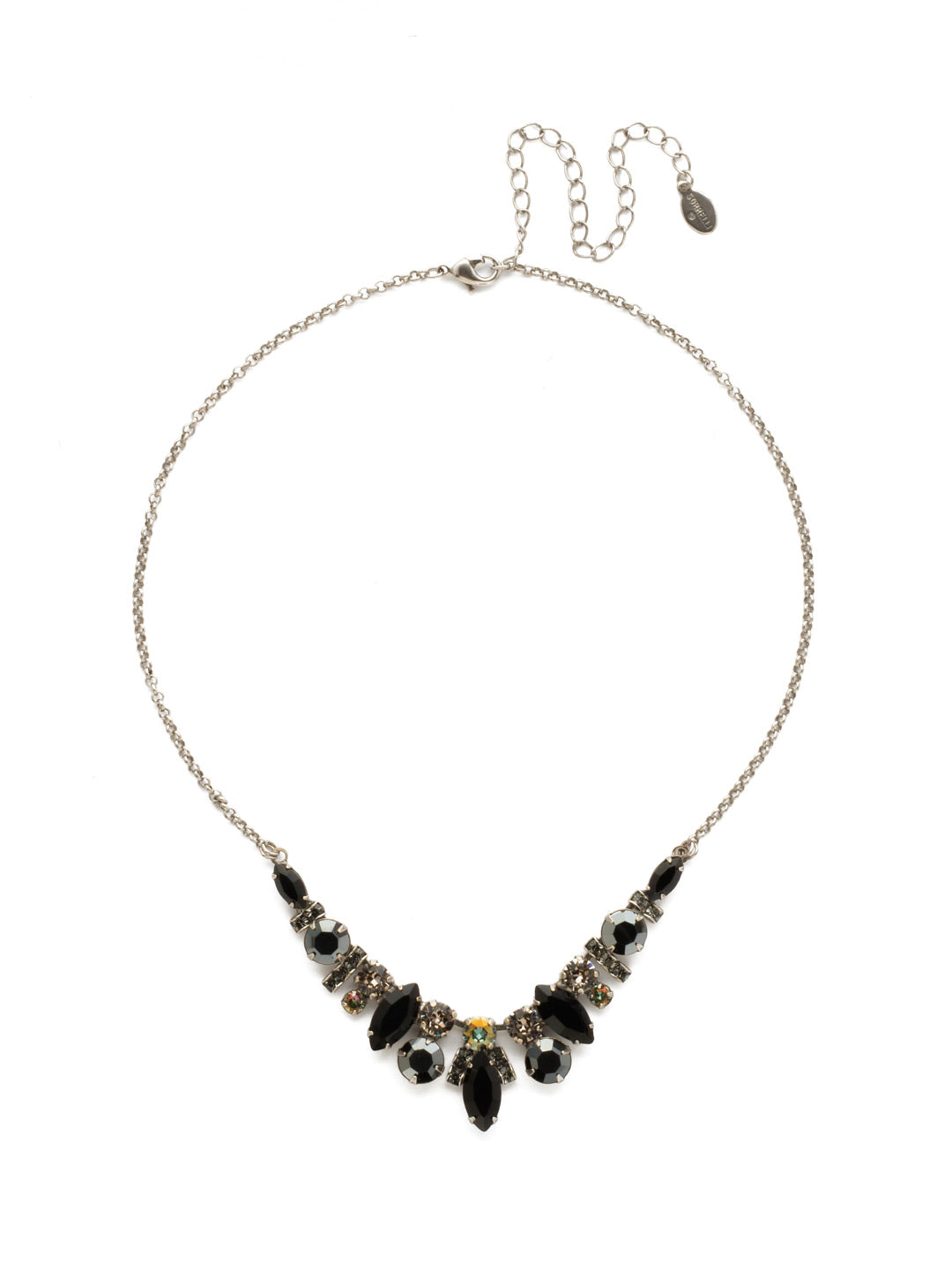 Noveau Navette Statement Necklace - NDG90ASBON