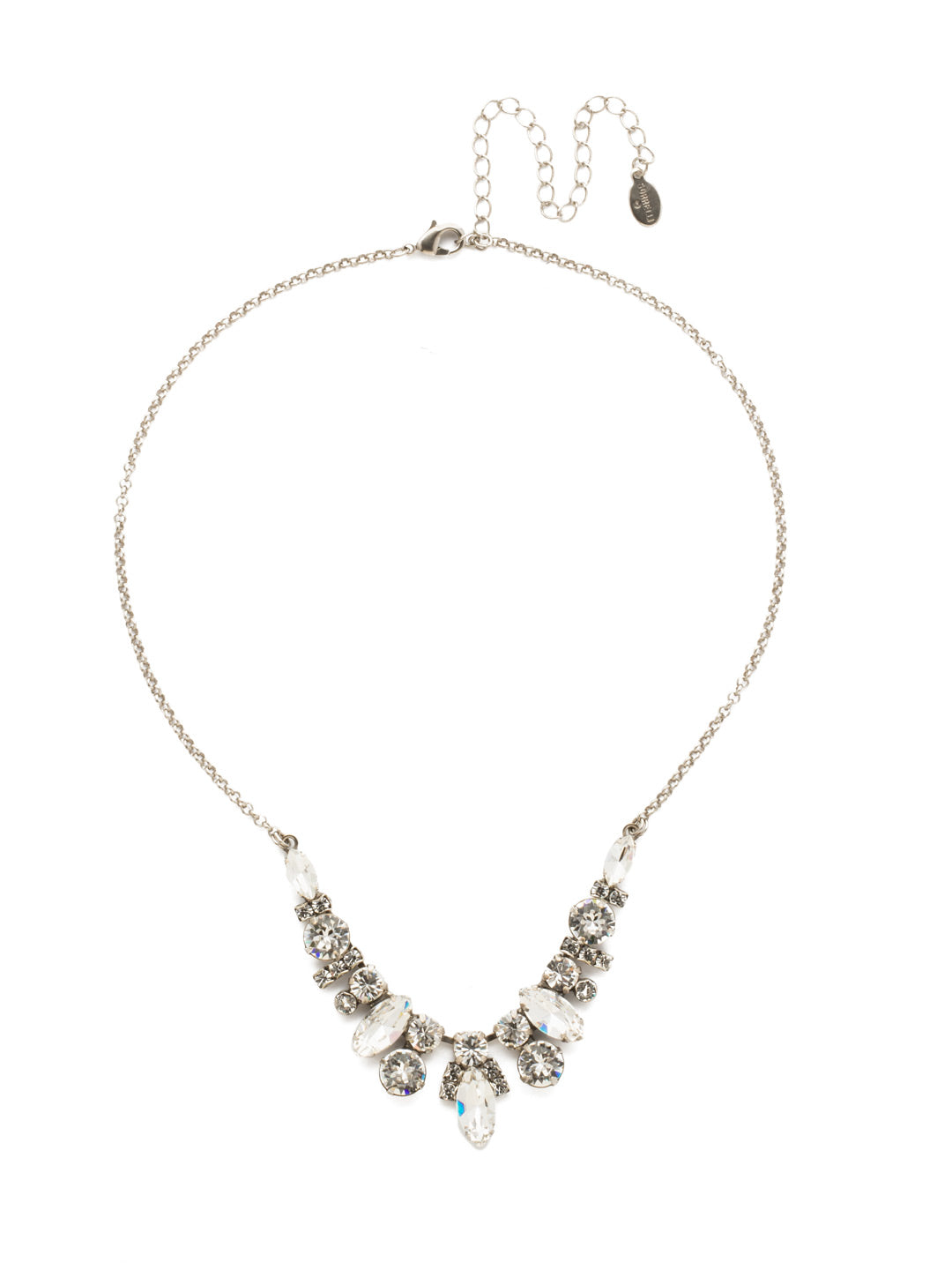 Noveau Navette Statement Necklace - NDG90ASCRY