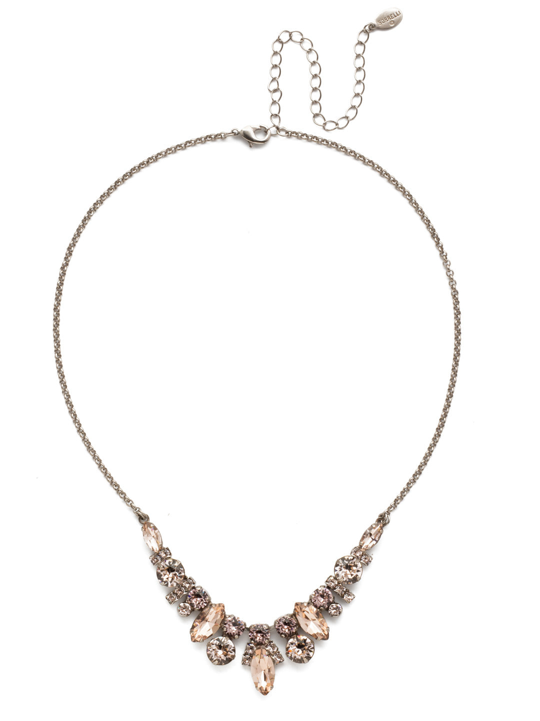 Noveau Navette Statement Necklace - NDG90ASSBL