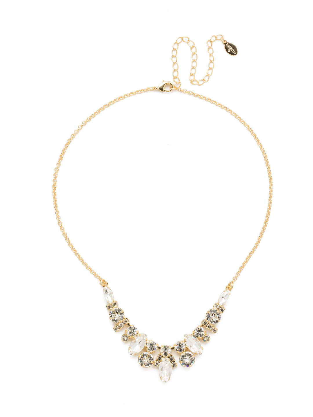 Noveau Navette Statement Necklace - NDG90BGCRY