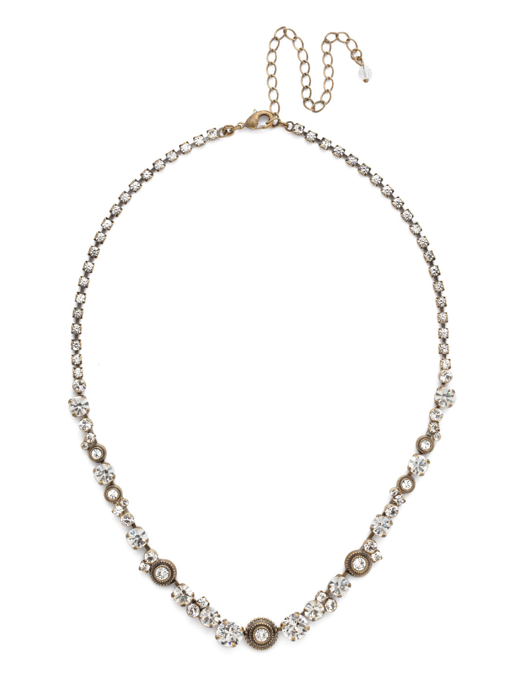 Macrame Line Necklace - NDH26AGCRY