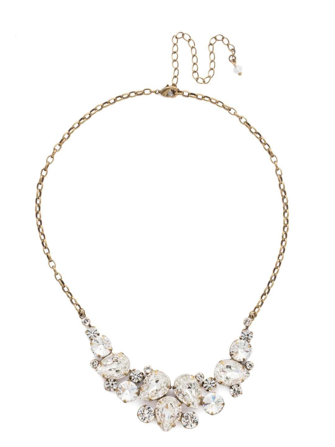 Nested Pear Statement Necklace - NDJ14AGCRY