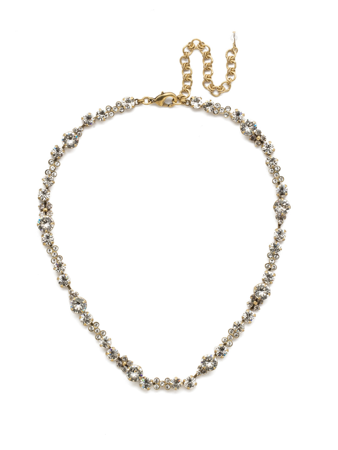In Bloom Line Necklace - NDK10AGCRY