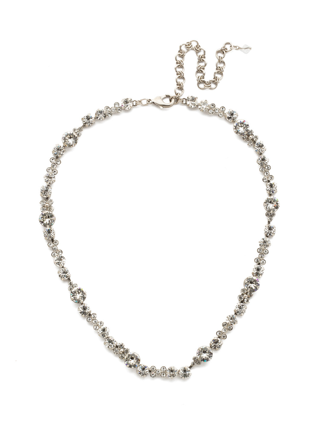 In Bloom Line Necklace - NDK10ASCRY