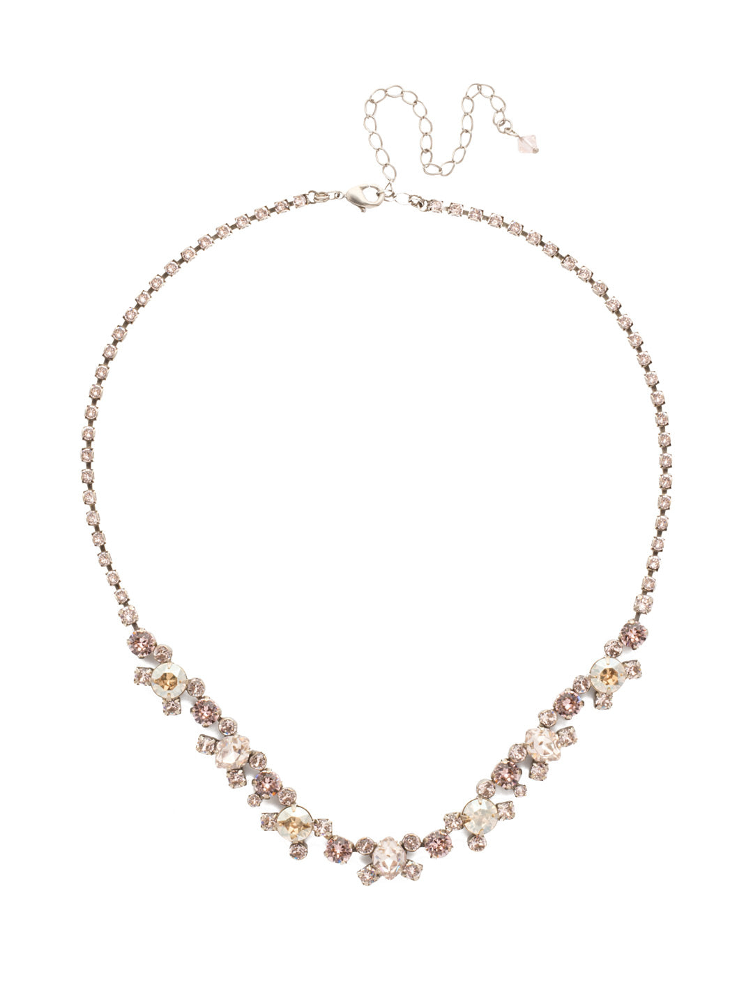 Perfect Harmony Line Necklace - NDK11ASSBL