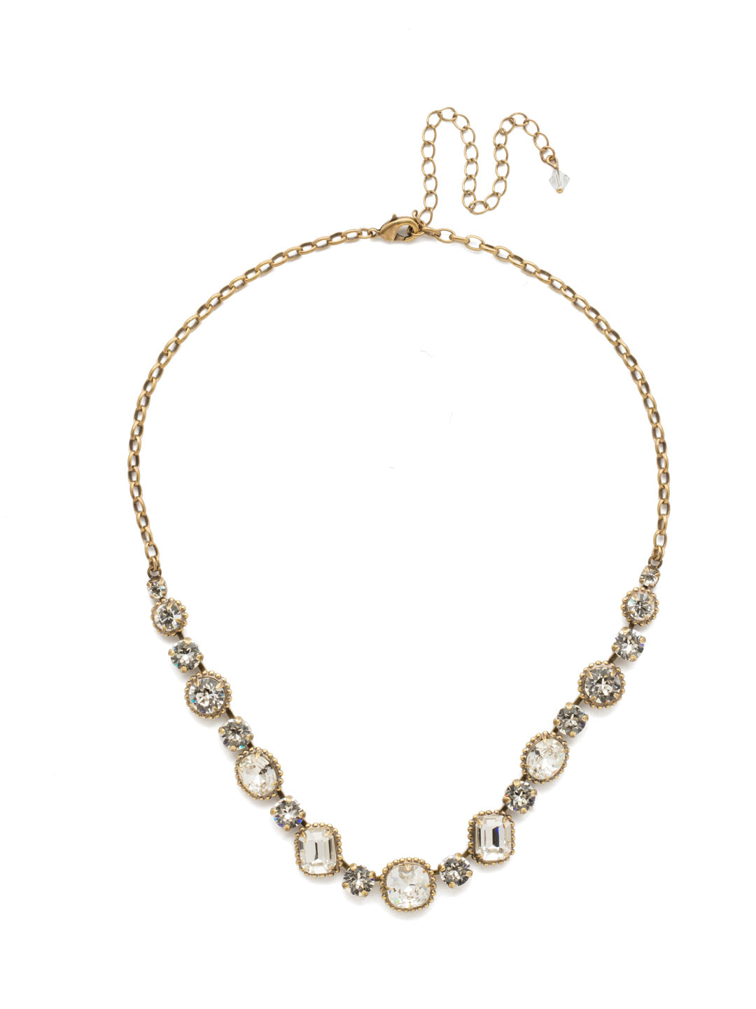 Embellished Elegance Necklace - NDK14AGCRY