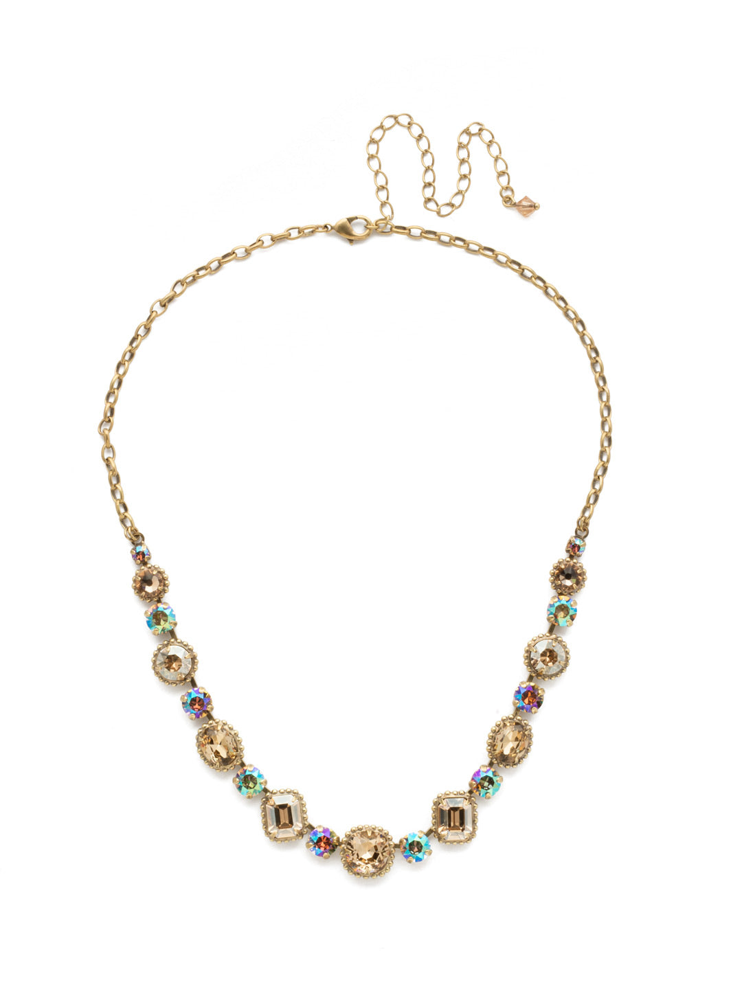 Embellished Elegance Necklace - NDK14AGNT