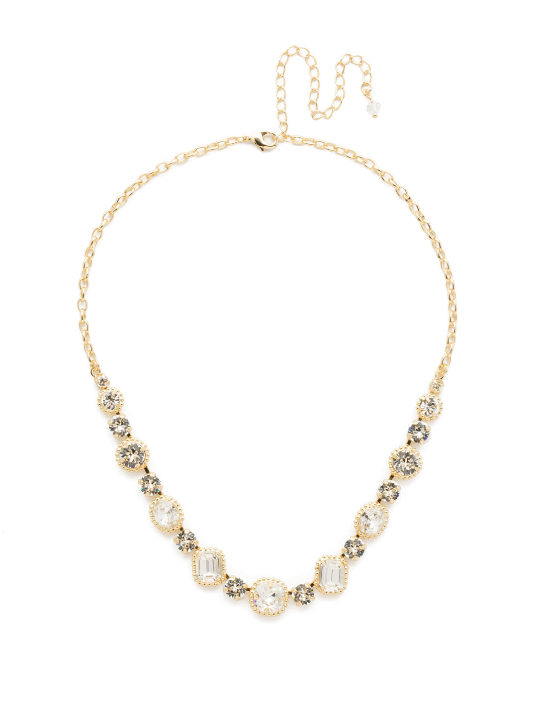 Embellished Elegance Necklace - NDK14BGCRY