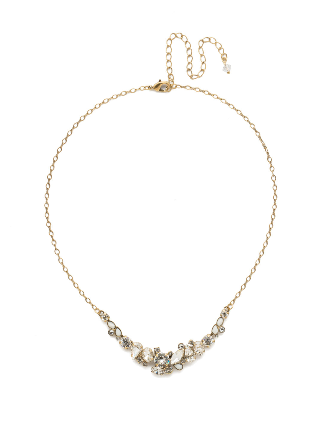 Asymmetric Cluster Necklace - NDK16AGCRY