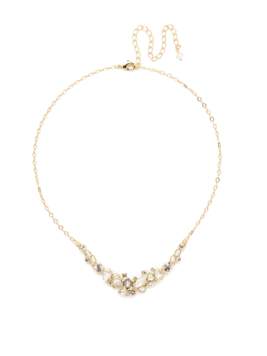 Asymmetric Cluster Necklace - NDK16BGCRY