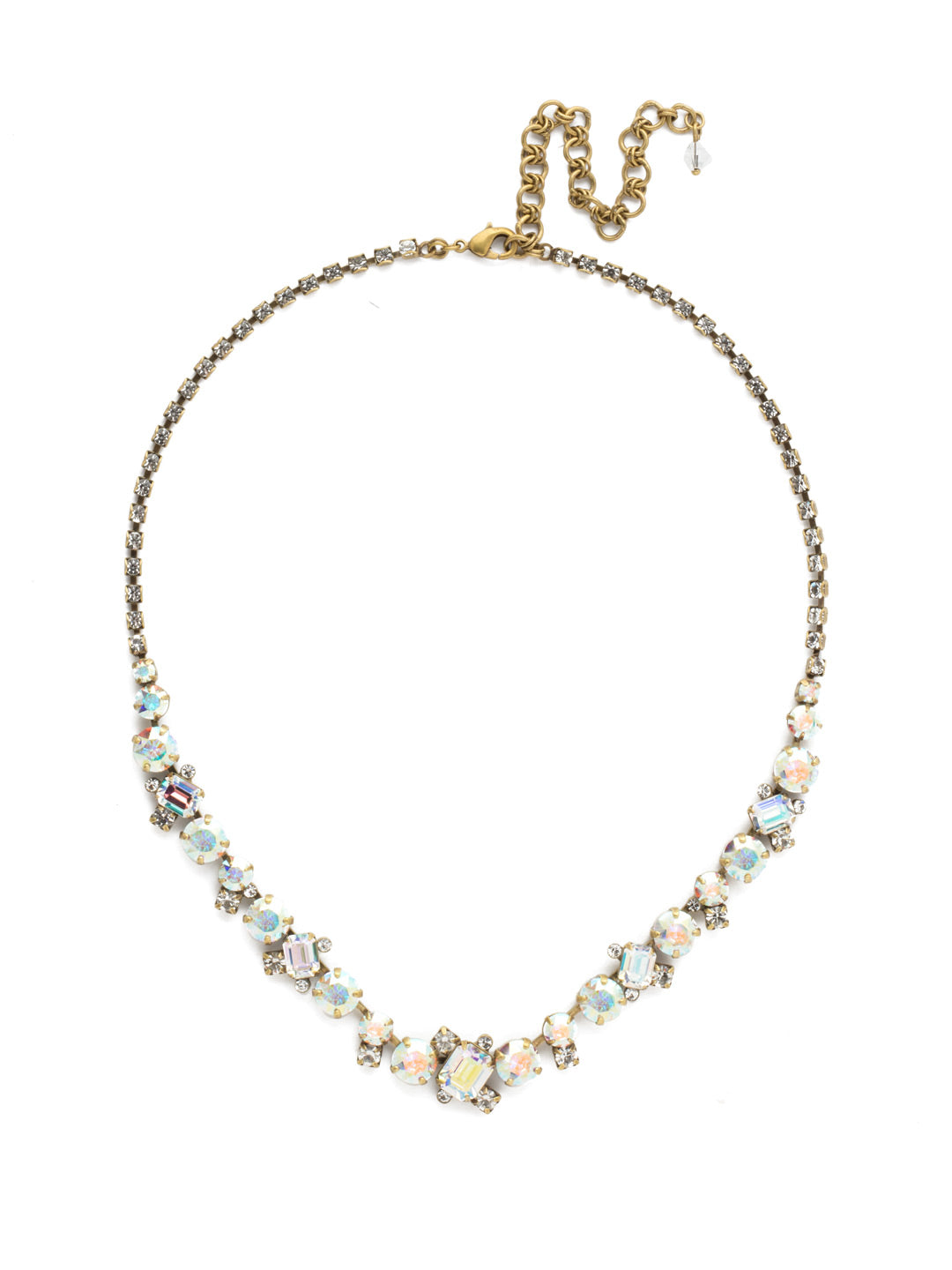 Sophisticated Tennis Necklace - NDK17AGSNF