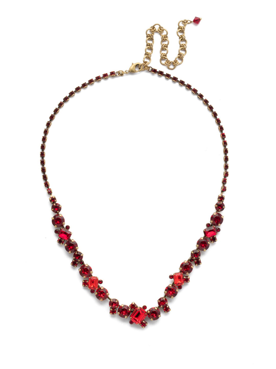 Sophisticated Tennis Necklace - NDK17AGSNR
