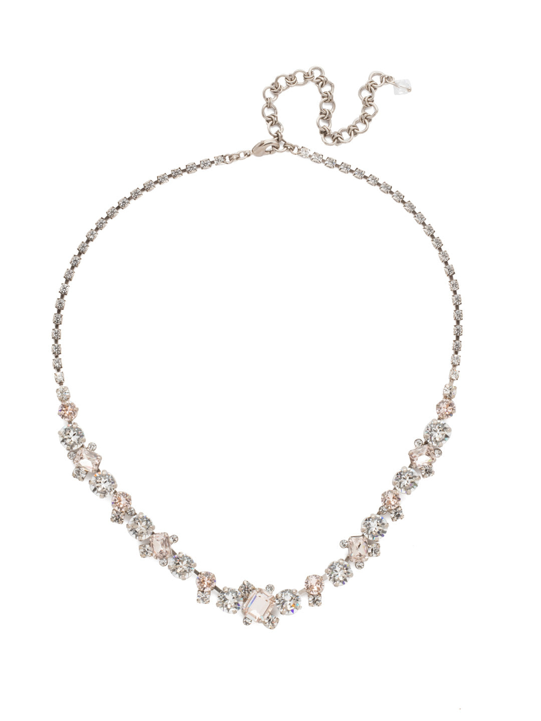 Sophisticated Tennis Necklace - NDK17ASPLS