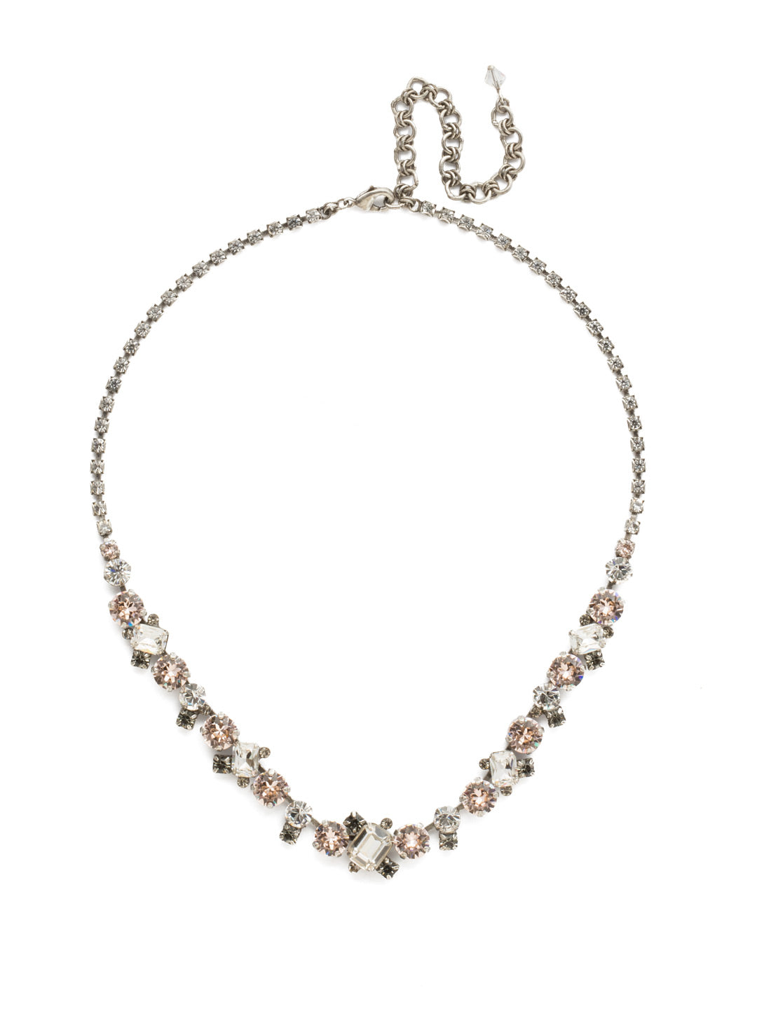 Sophisticated Tennis Necklace - NDK17ASSNB