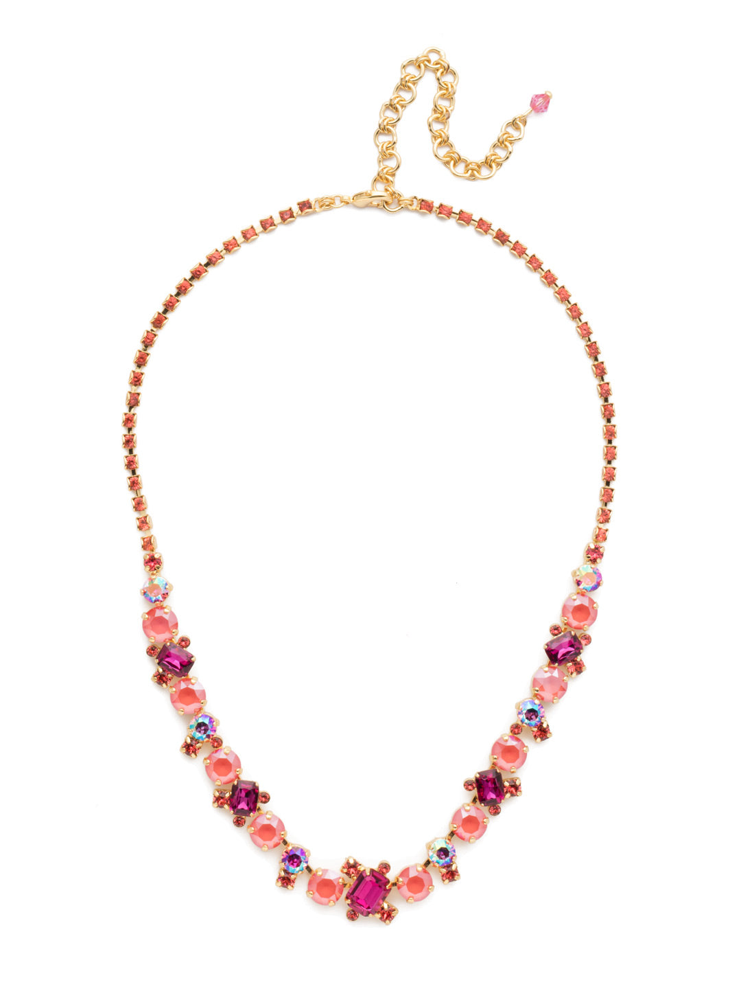 Sophisticated Tennis Necklace - NDK17BGBGA