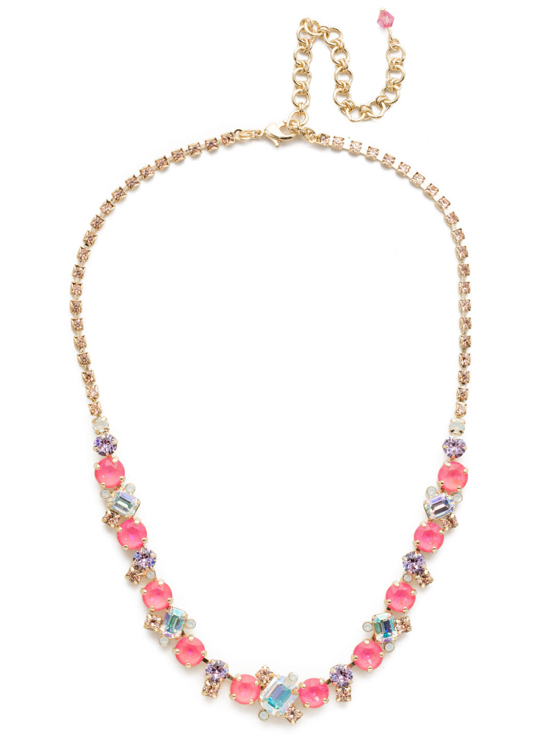 Sophisticated Tennis Necklace - NDK17BGISS