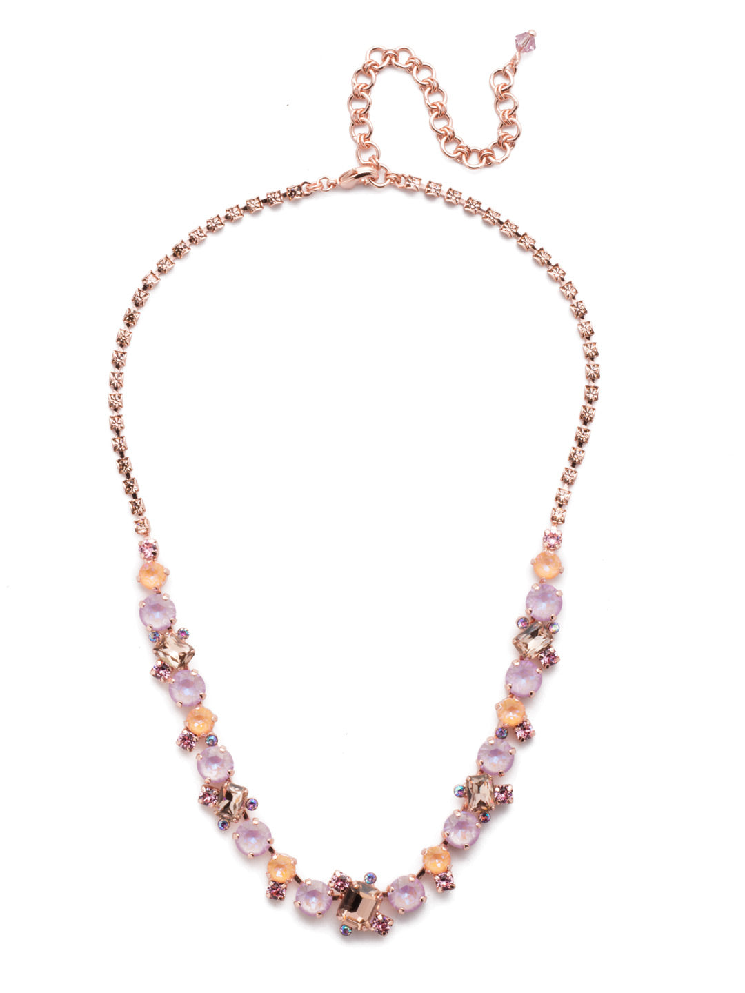 Sophisticated Tennis Necklace - NDK17RGLVP