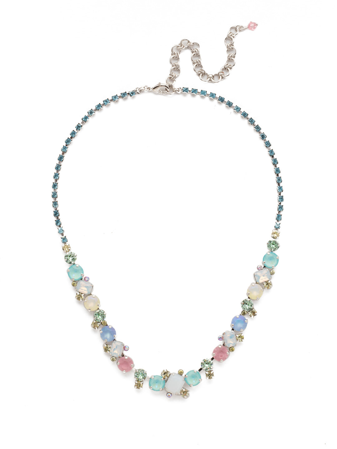 Sophisticated Tennis Necklace - NDK17RHSSU