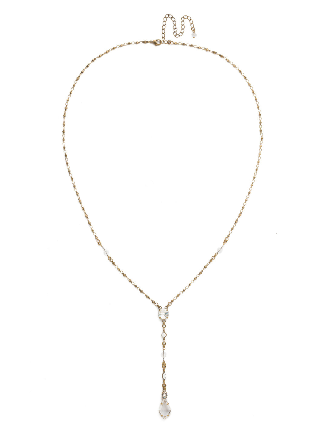 Regal Rhombus Y Pendant Necklace - NDK76AGCRY