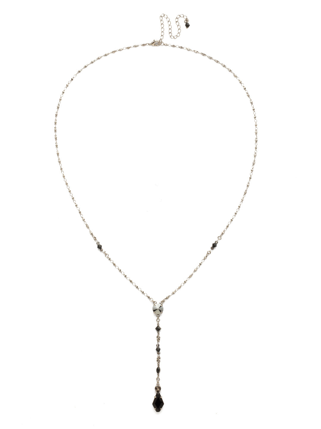 Regal Rhombus Y Pendant Necklace - NDK76ASBON