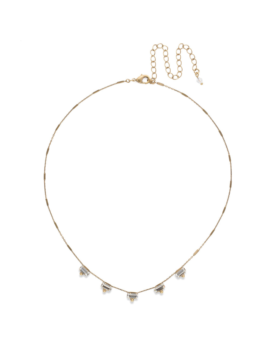 Shine and Dash Tennis Necklace - NDM17AGCRY