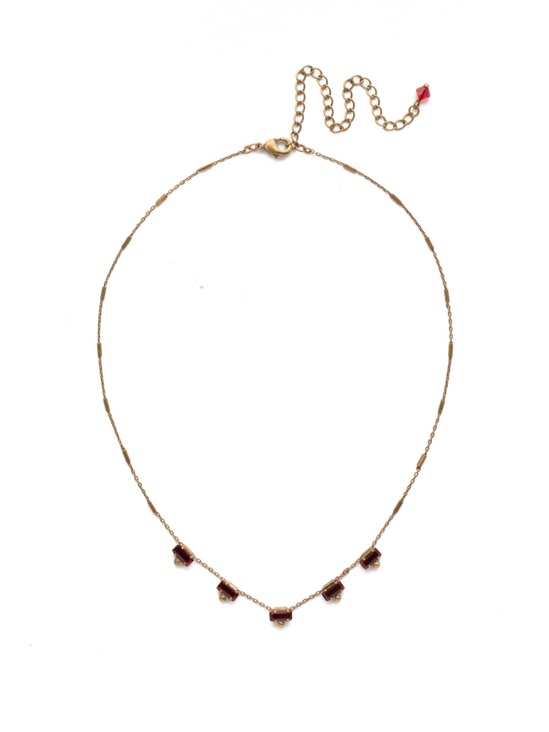 Shine and Dash Tennis Necklace - NDM17AGGGA