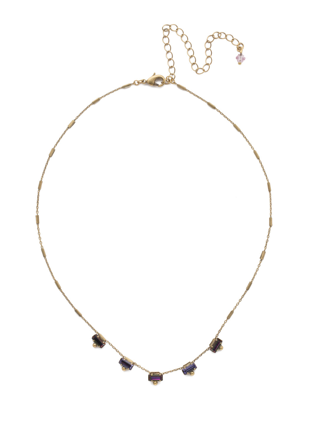 Shine and Dash Tennis Necklace - NDM17AGIRB