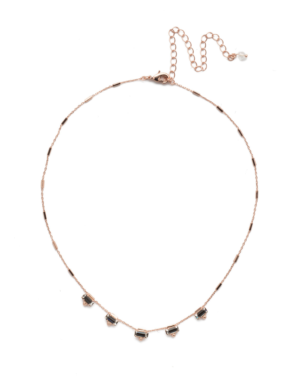 Shine and Dash Tennis Necklace - NDM17RGROG